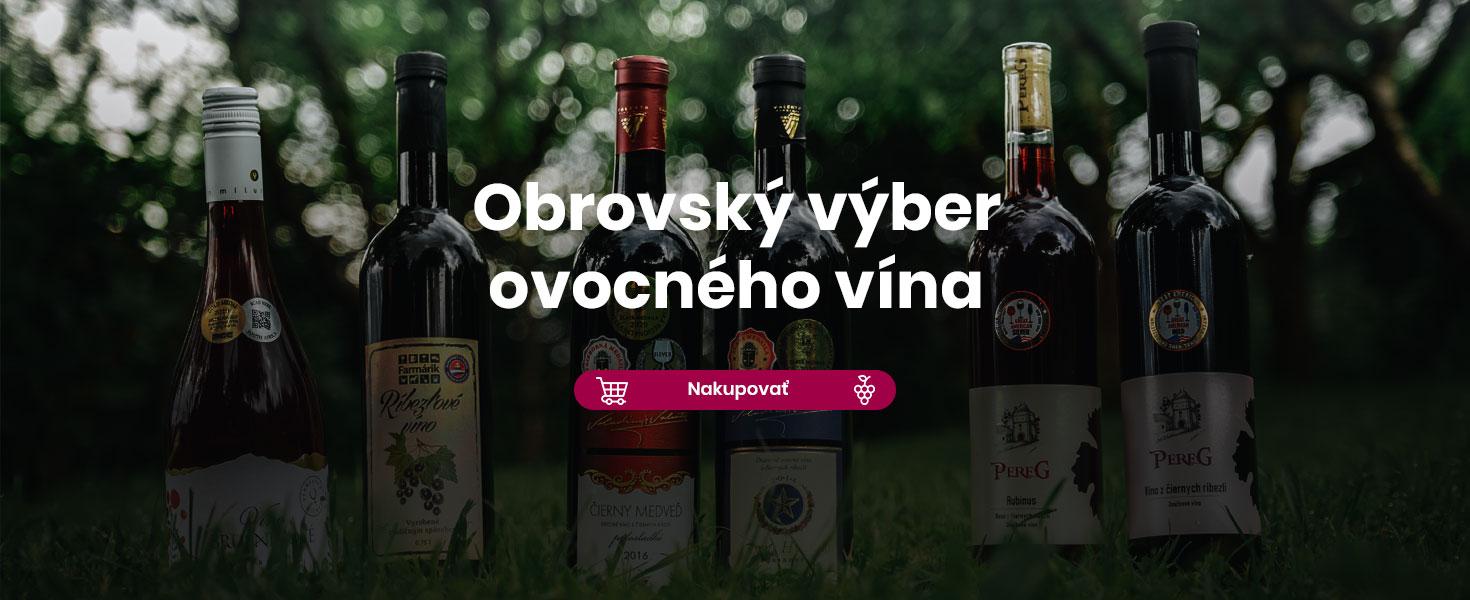 Obrovský výber ovocného vína