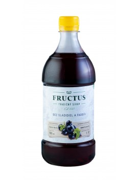 Fructus sirup s príchuťou čierna ríbezľa bez umelých sladidiel a farbív 700 ml