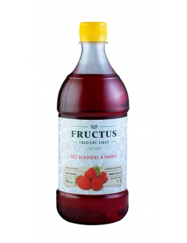 Fructus sirup s príchuťou lesná jahoda bez umelých sladidiel a farbív 700 ml