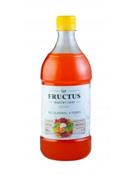 Fructus sirup s príchuťou ovocná zmes bez umelých sladidiel a farbív 700 ml